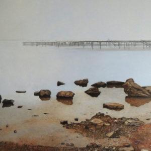 L'étang - Huile sur toile - 116x81 - 2020